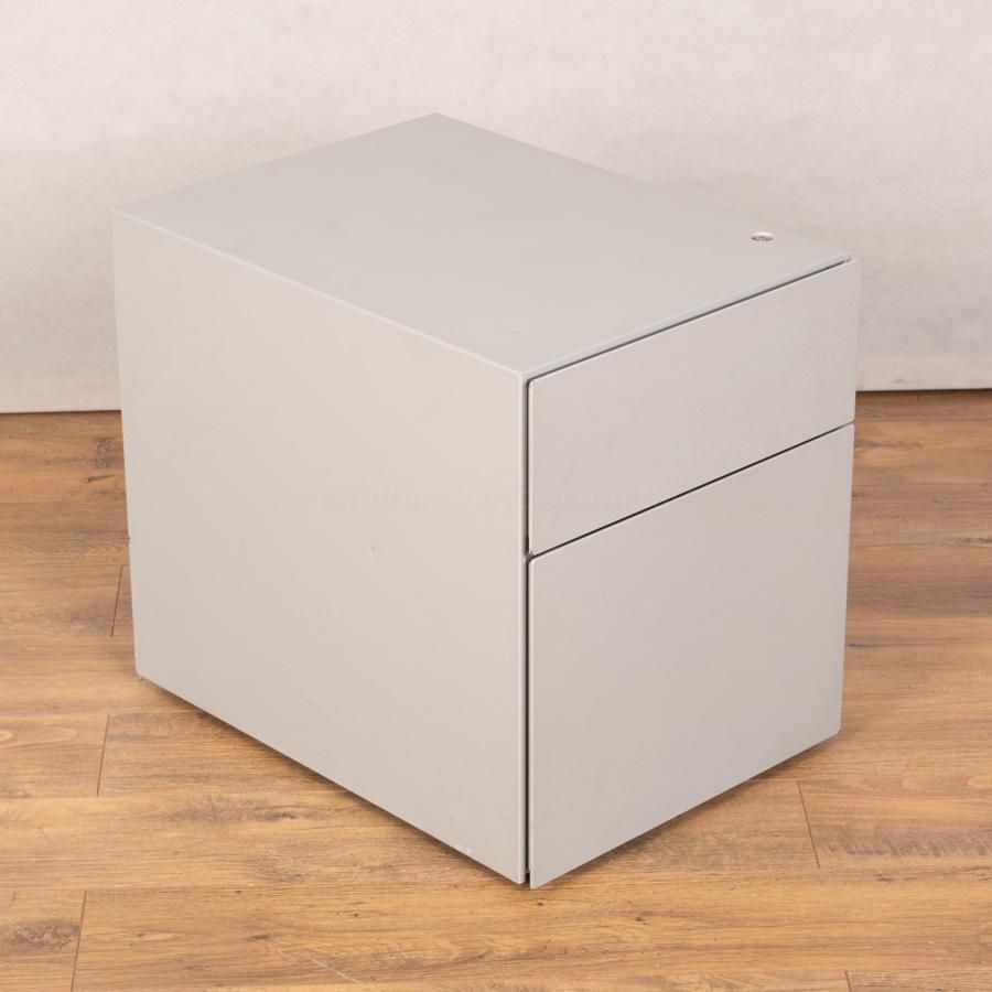 Knoll Light Grey 2 Drawer Office Pedestal (PED119)