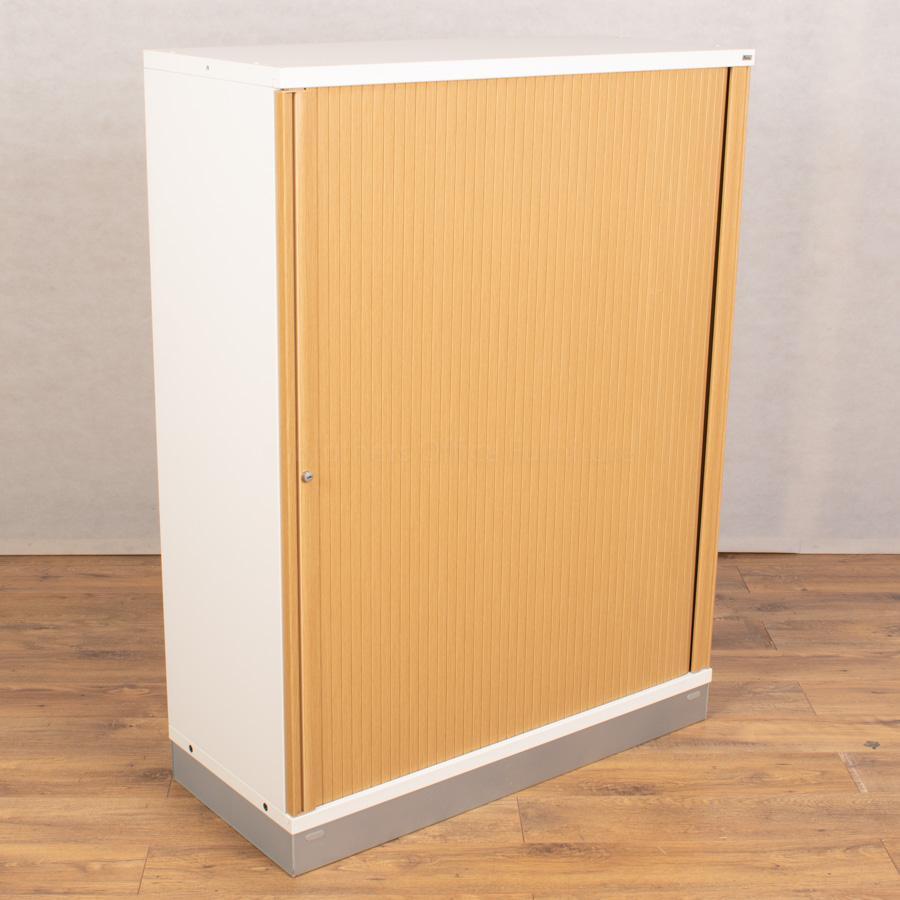 Kinnarps Oak/White 1335H Filing Tambour Cupboard