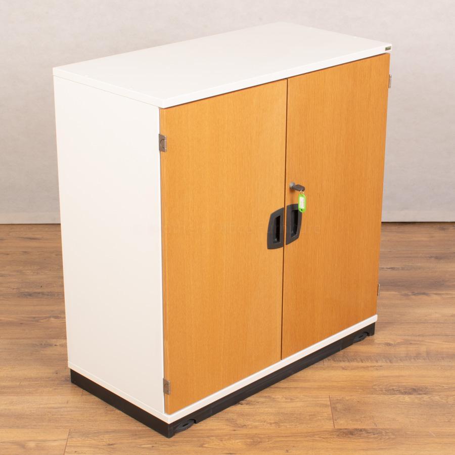 Kinnarps Veneer/White 850H Office Cupboard