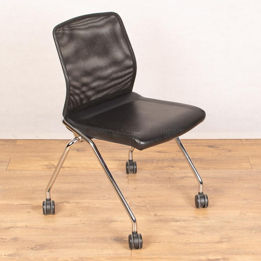 Boss Design Mesh/Leather Folding Meeting Chair