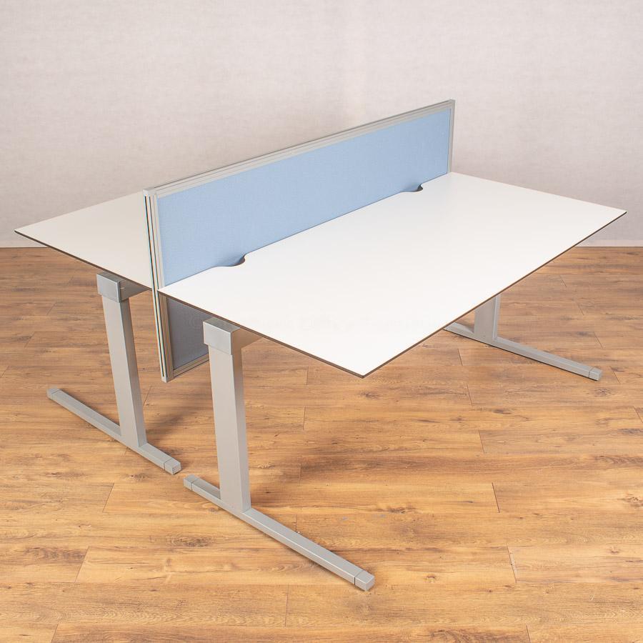 Techo Horizont White 1600x800 Straight Desk + Mode