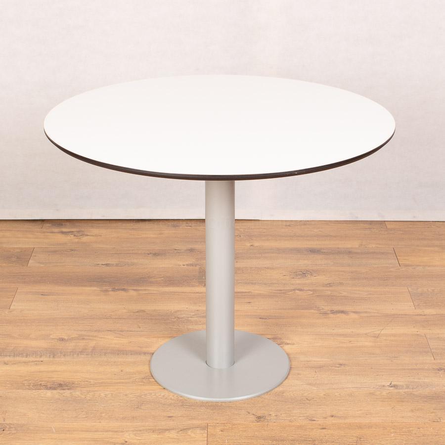 Techo White 900D Round Table