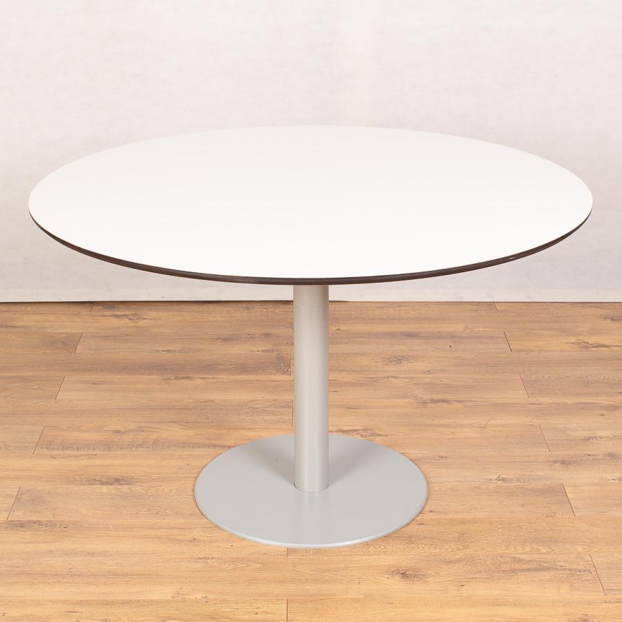 Techo White 1200D Round Table