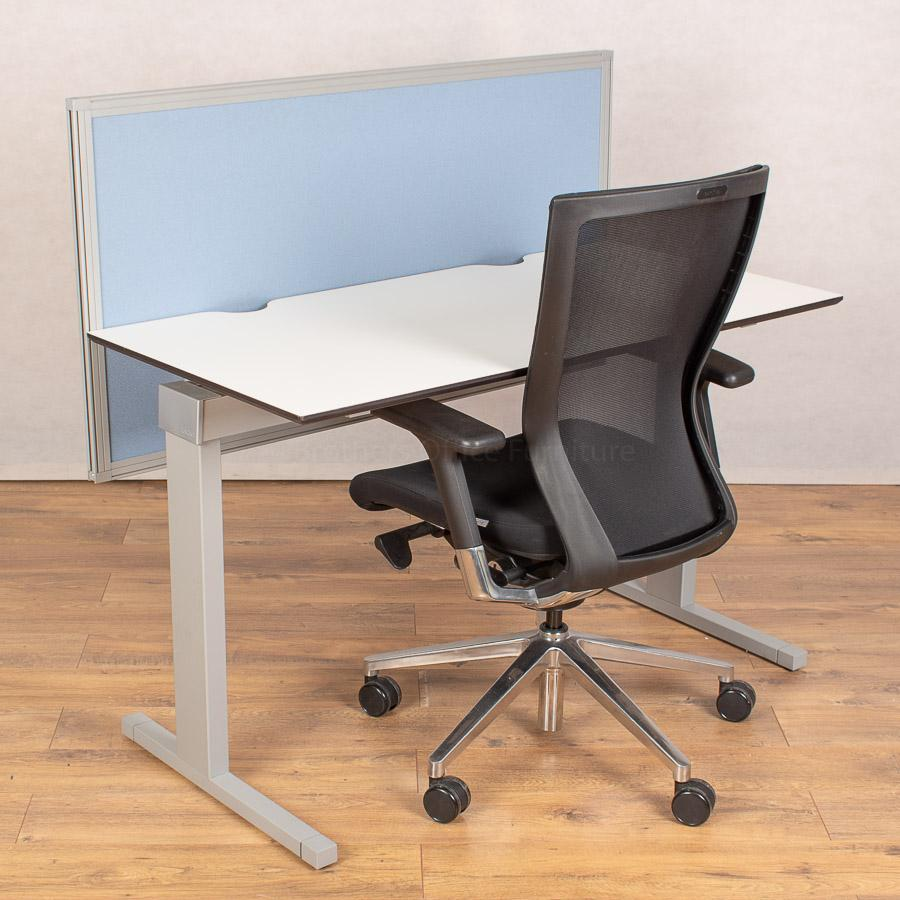 Techo Horizont White 1200x600 Straight Desk + Mode