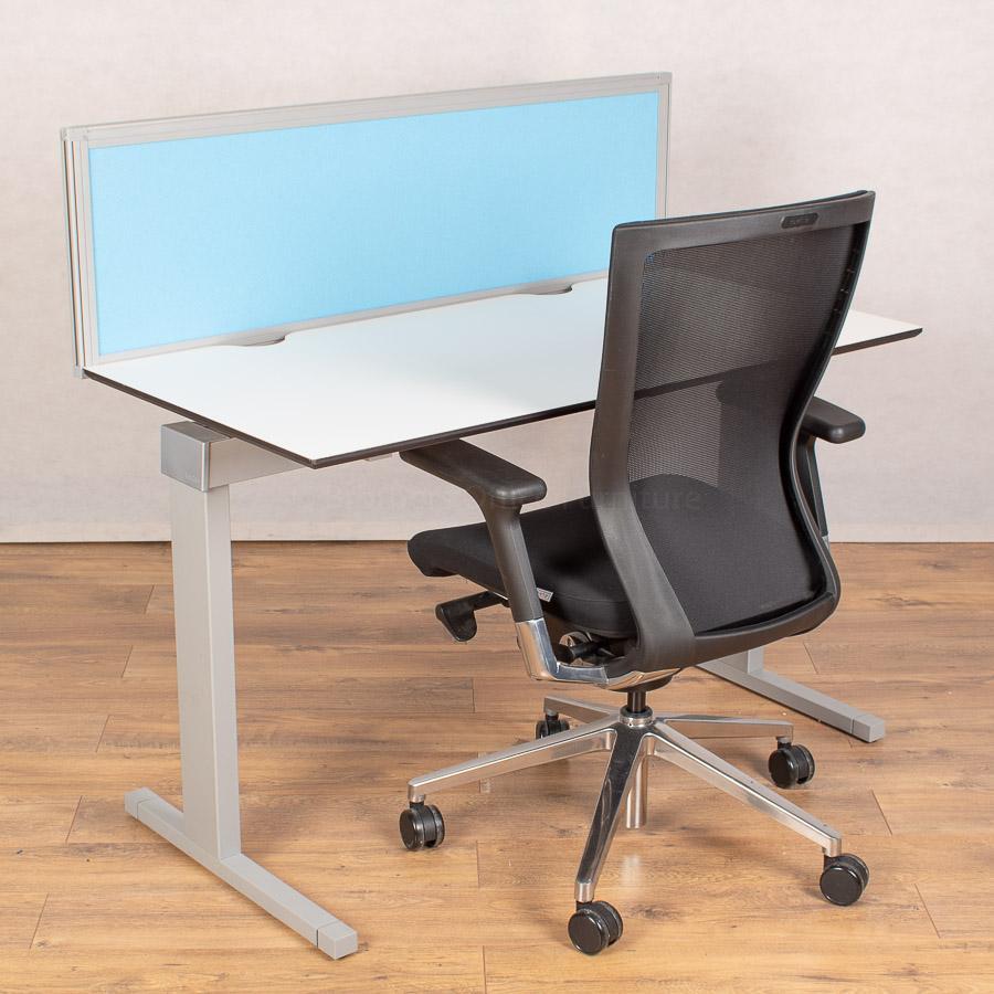 Techo Horizont White 1200x600 Straight Desk
