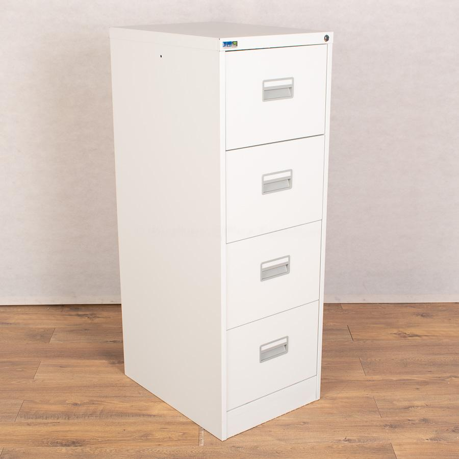 Silverline Light Grey 4 Drawer Filing Cabinet