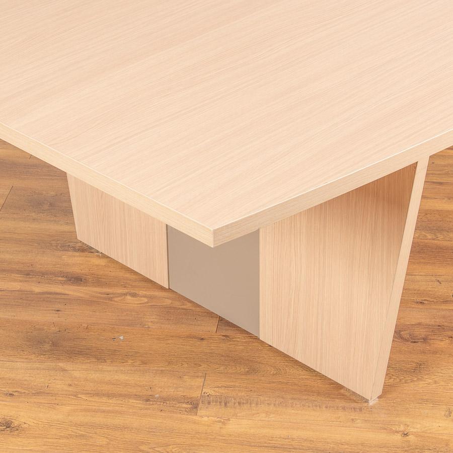 Light Oak 4000x1400 Boardroom Table