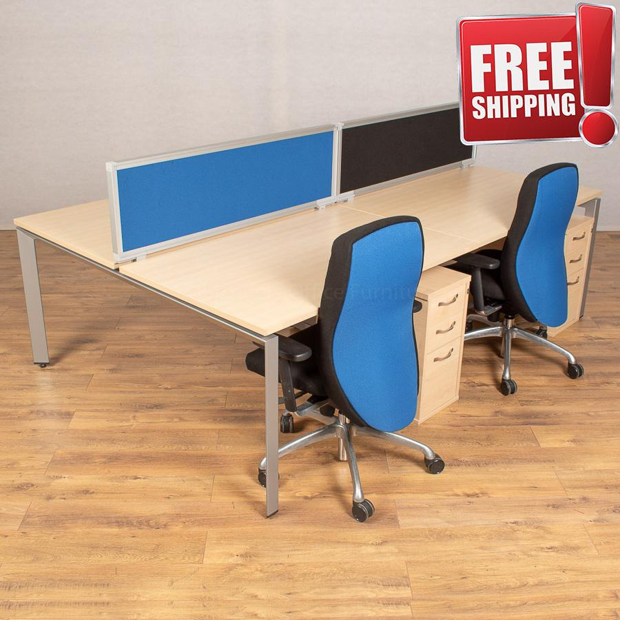 Steelcase FrameOne Maple 1600 Bench Desks
