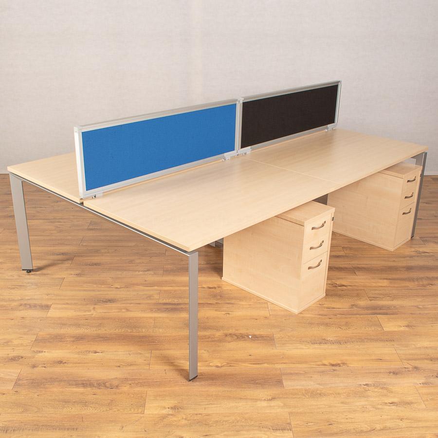 Steelcase FrameOne Maple 1600 Bench Desks