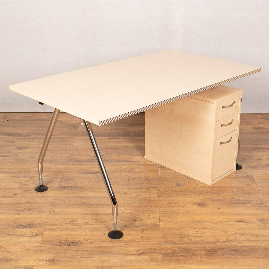 Vitra Maple 1400x800 Straight Workstation