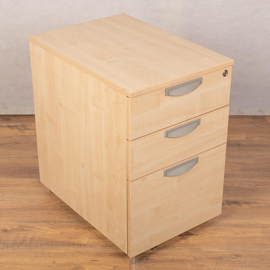 Maple 3 Drawer Office Pedestal (PED145)