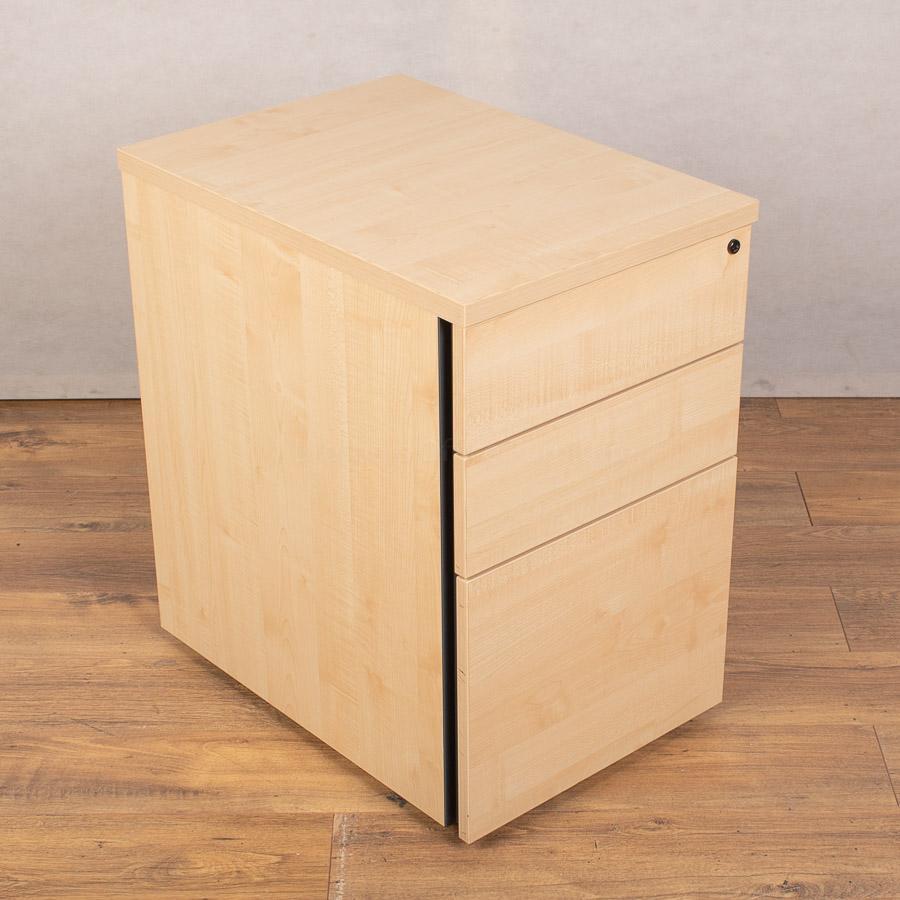 Maple 3 Drawer Office Pedestal (PED146)