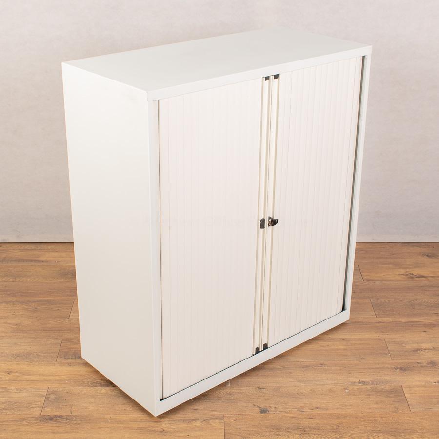 White 1150H Tambour Cupboard