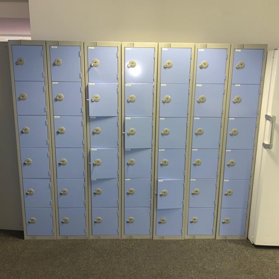 Elite Light Blue 6 Door Lockers