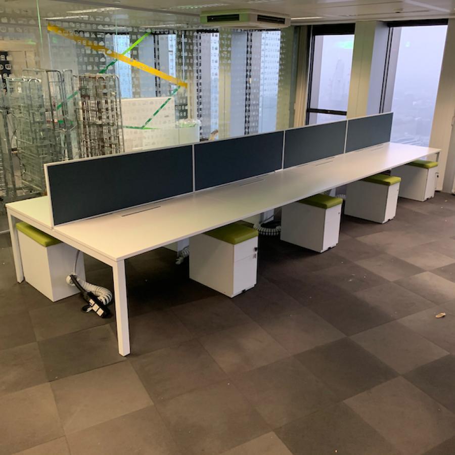 Herman Miller Layout Studio White 1400 Bench Desks