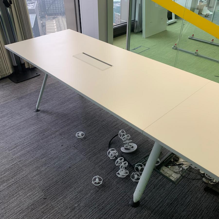 Herman Miller Abak White 1800x800 Meeting Table (M
