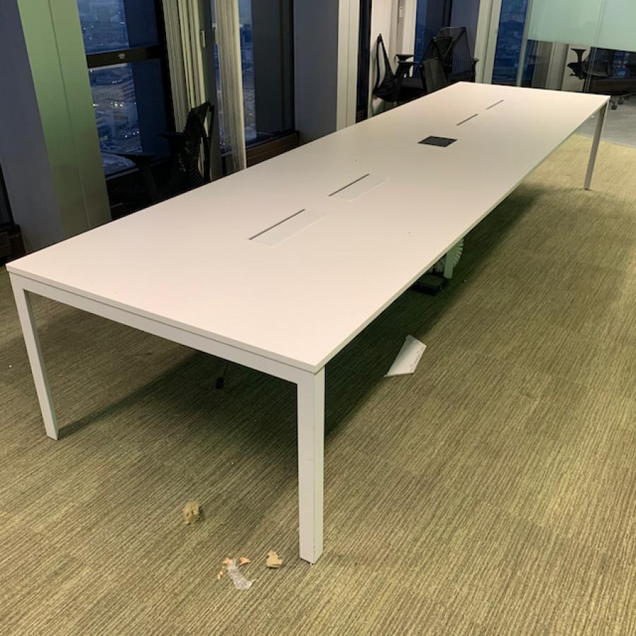 Herman Miller Layout Studio White 4400x1200 Meeting Table