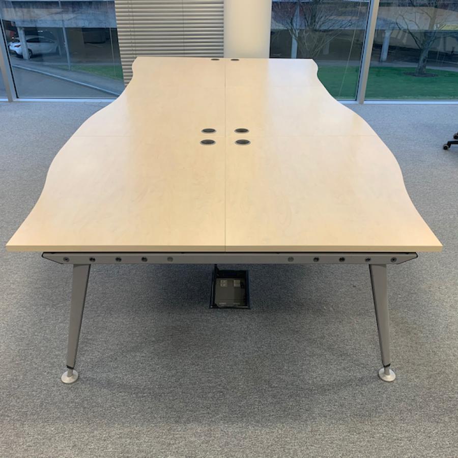 Maple 1200 Wave Bench Desks (BD83)
