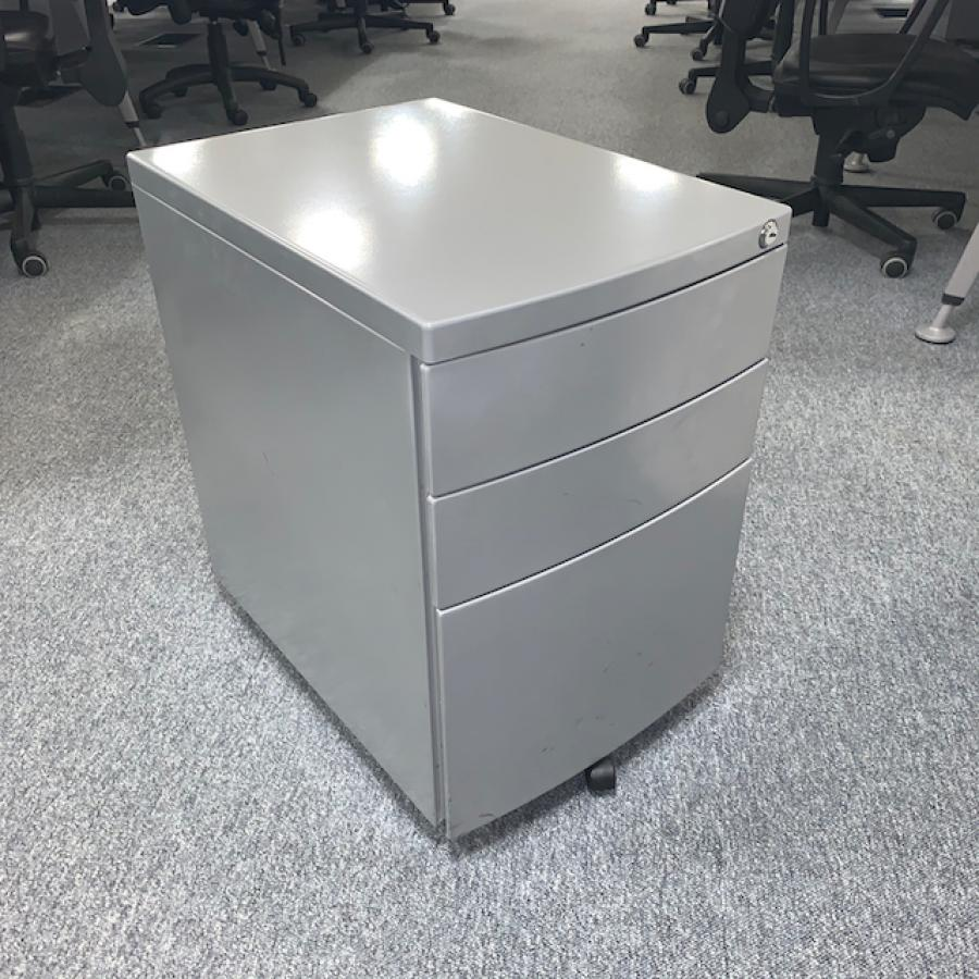 Silver 3 Drawer Office Pedestal (PED149)