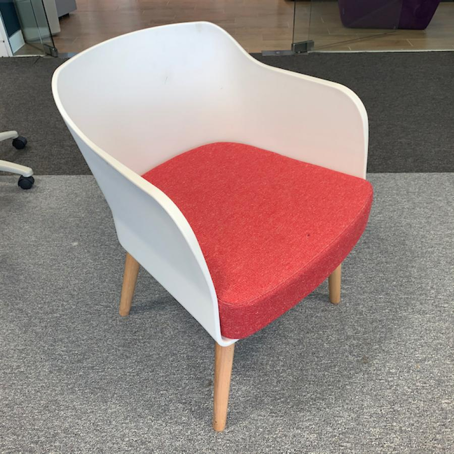 White/Red Reception Breakout Chair