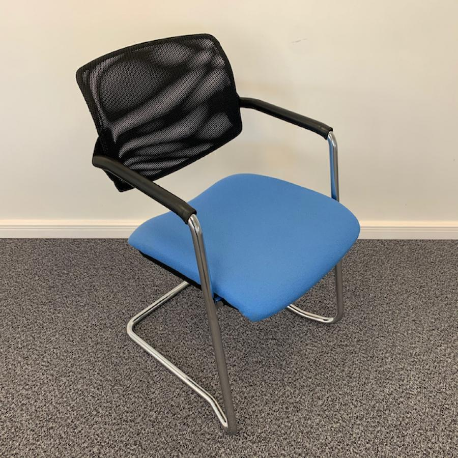 Chrome Frame Mesh Back Meeting Chair