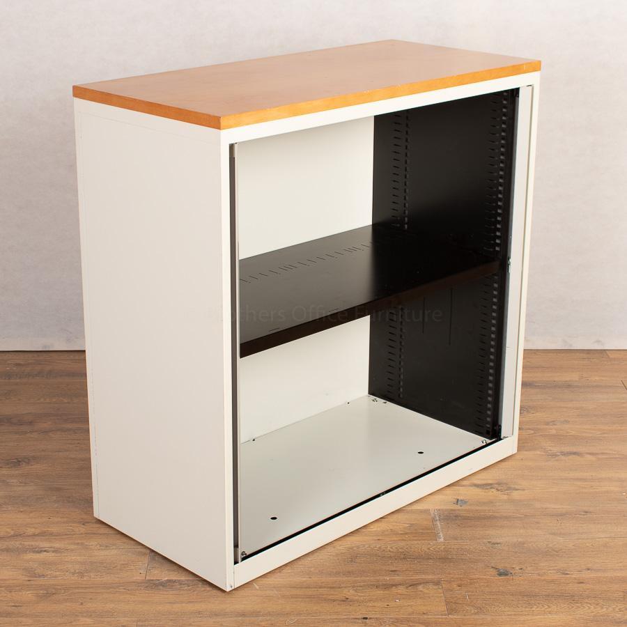 Bisley Chalk White 1000H Tambour Cupboard