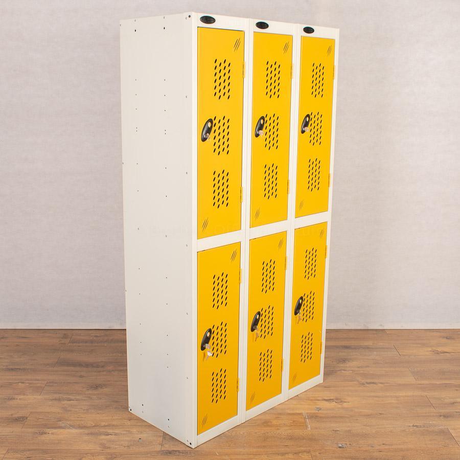 Probe Yellow 2 Door Locker   Nest of 3
