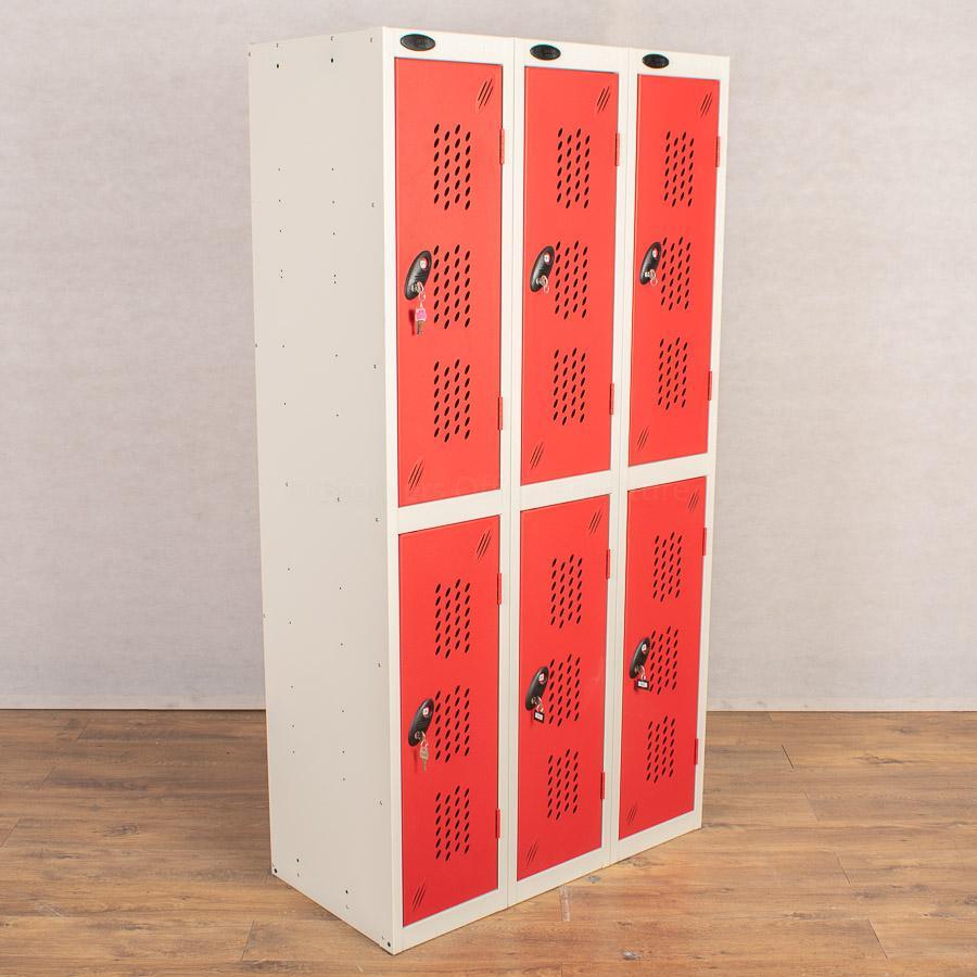 Probe Red 2 Door Locker   Nest of 3