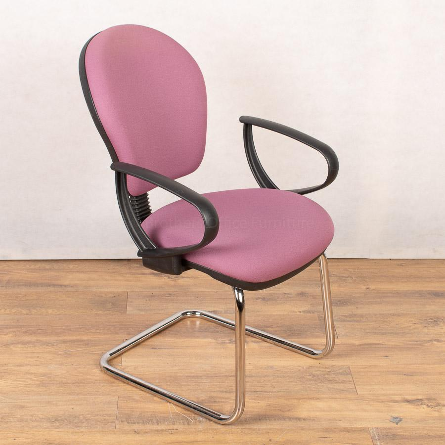 Sven Chrome Cantilever Meeting Chair