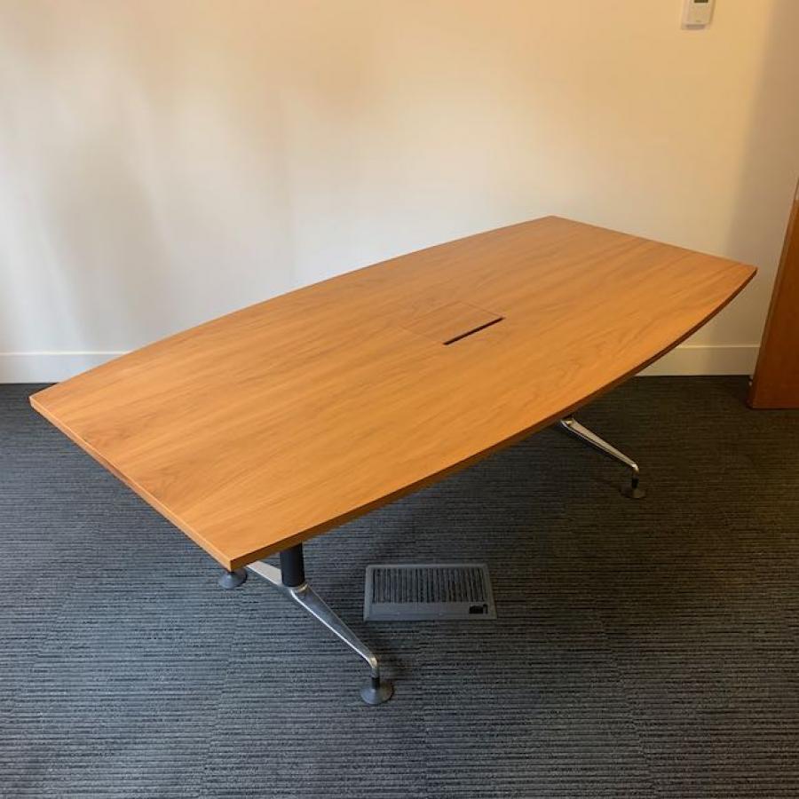 Orangebox Pars Walnut Veneer 2000x1000 Boardroom Table