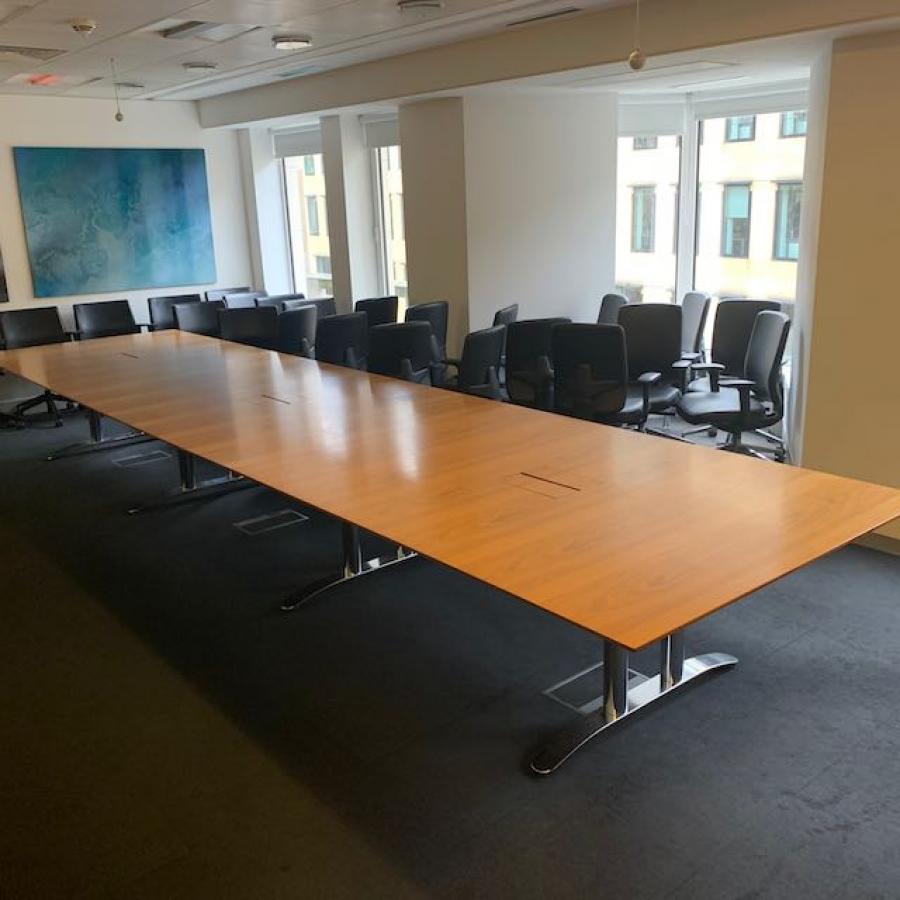 Walnut Veneer 6000x1500 Boardroom Table