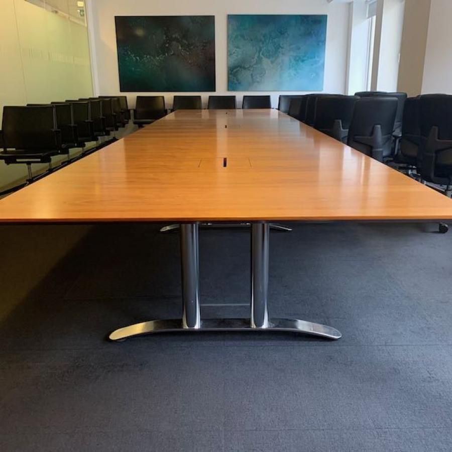 Walnut Veneer 6000x1500 Boardroom Table