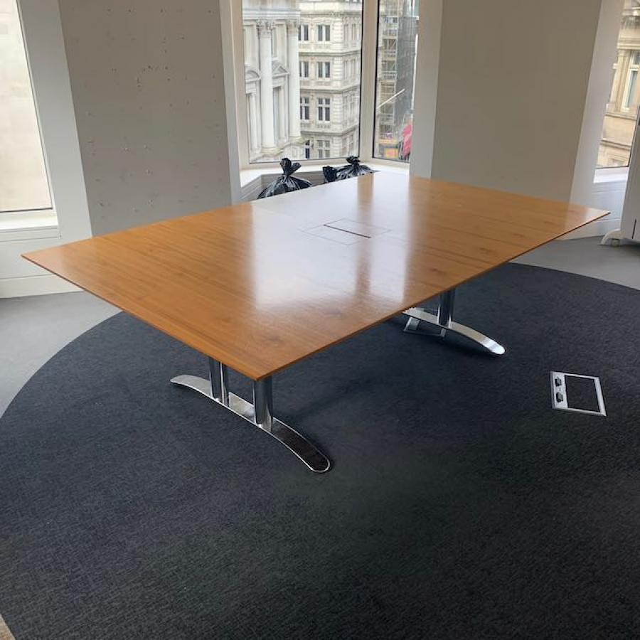 Walnut Veneer 2400x1500 Boardroom Table