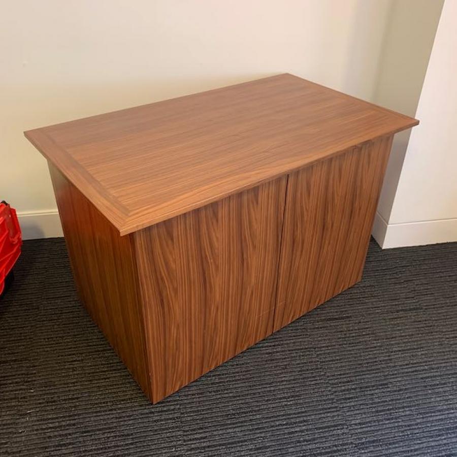 Orangebox Pars Walnut Veneer 2 Door Credenza