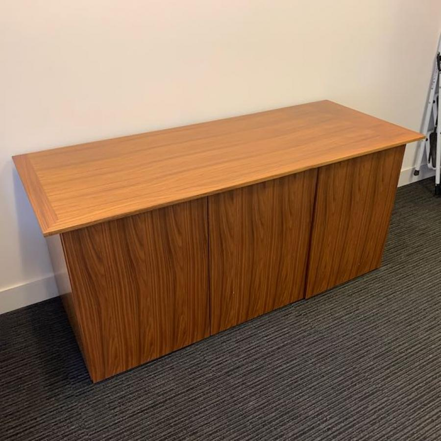 Orangebox Pars Walnut Veneer 3 Door Credenza