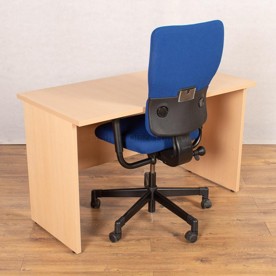Beech 1200x600 Desk with Steelcase Lets B