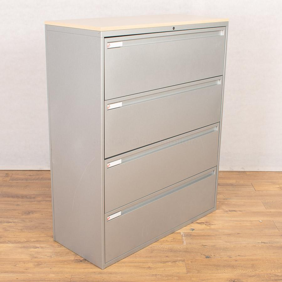 KI Silver 4 Drawer Lateral Filing Cabinet