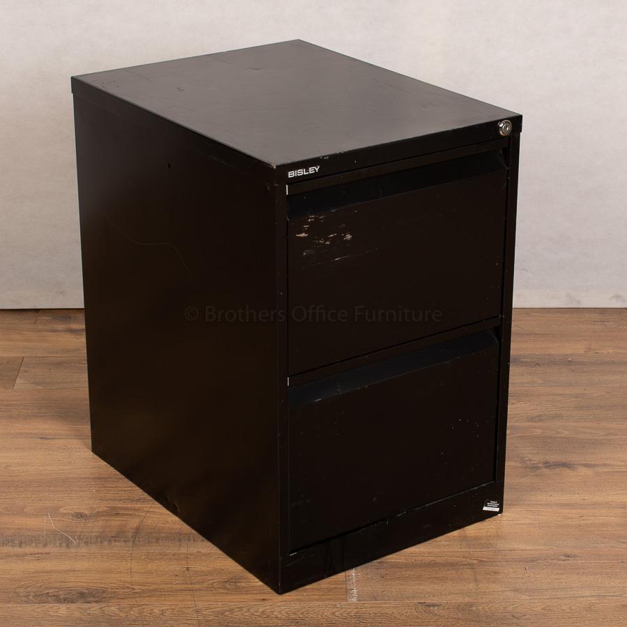 Bisley BS2E Black 2 Drawer Filing Cabinet