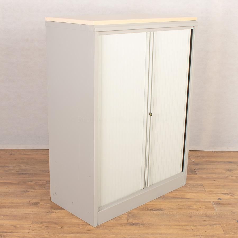 Silverline Light Grey 1345H Tambour Cupboard (TC19