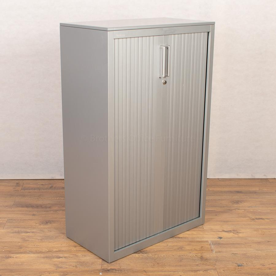 Steelcase Silver 1300H Tambour Cupboard