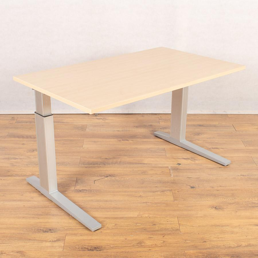 Bene Maple 1300x780 Height Adjustable Straight Desk