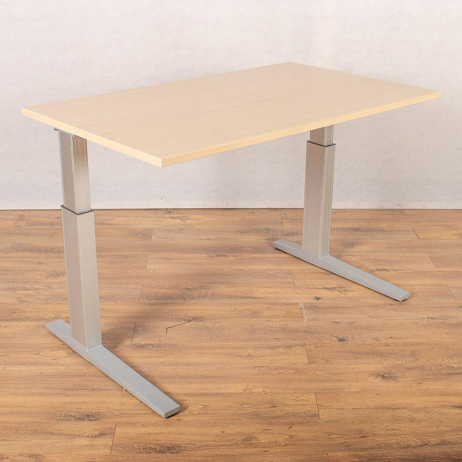 Bene Maple 1300x780 Height Adjustable Straight Desk