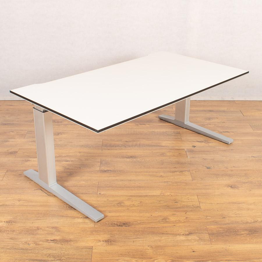 Bene White 1500x850 Height Adjustable Straight Desk