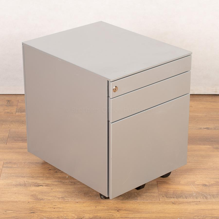 Silver 3 Drawer Office Pedestal (PED152)