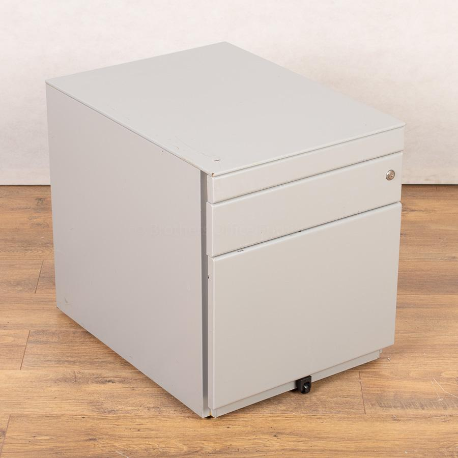 Silver 3 Drawer Office Pedestal (PED153)