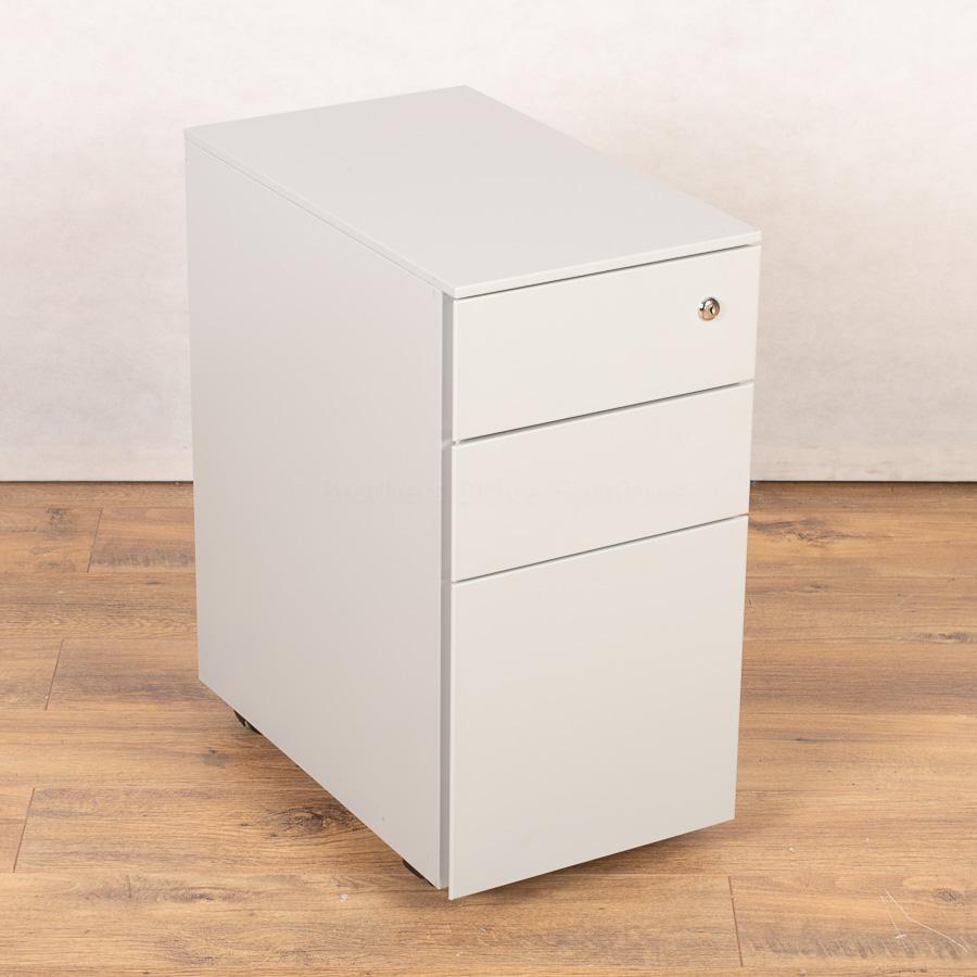 Light Grey Slimline 3 Drawer Office Pedestal (PED1