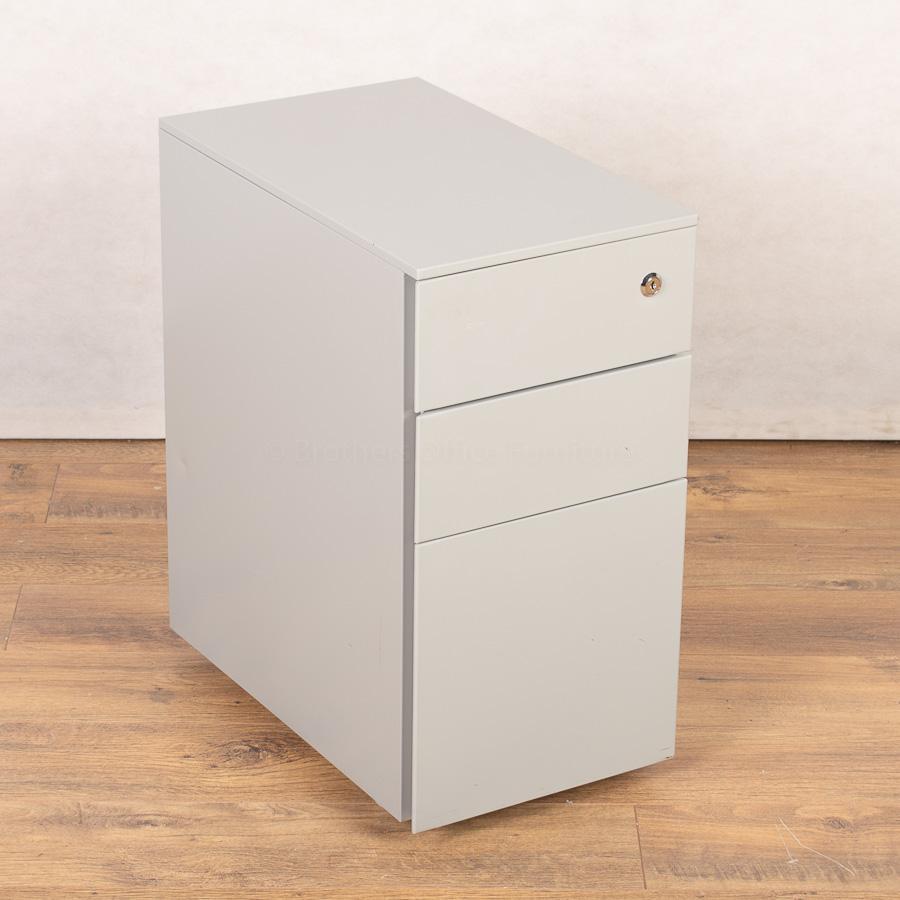 Light Grey Slimline 3 Drawer Office Pedestal (PED157)