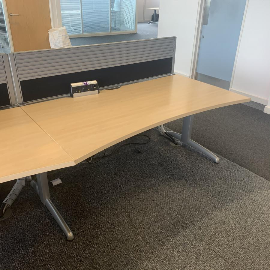 Steelcase TNT Marl Maple Straight Desk | Set of 6