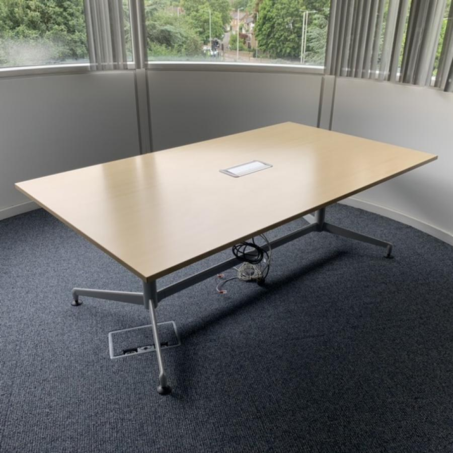 Steelcase Werndl Maple 2100x1200 Rectangle Meeting Table
