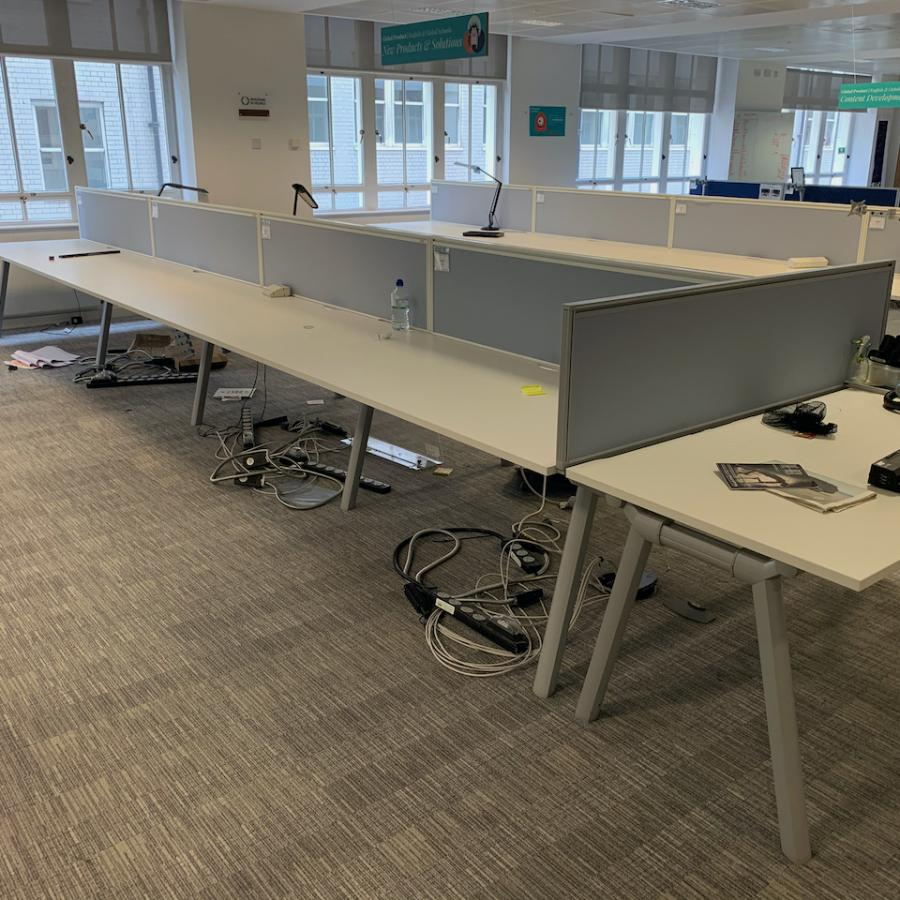 Senator Crossover White Bench Desks